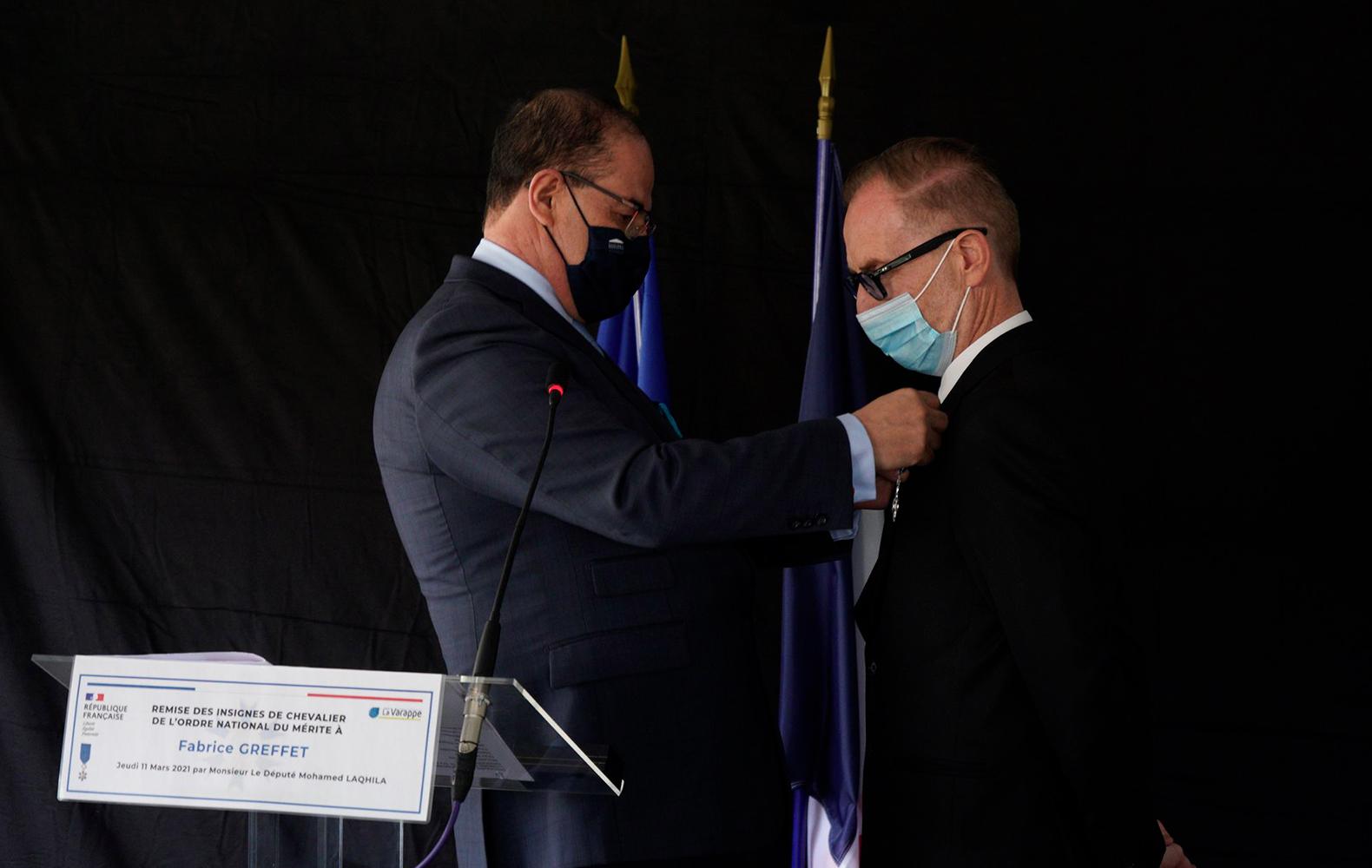 Remise de l'Ordre National du Mérite à Fabrice Greffet