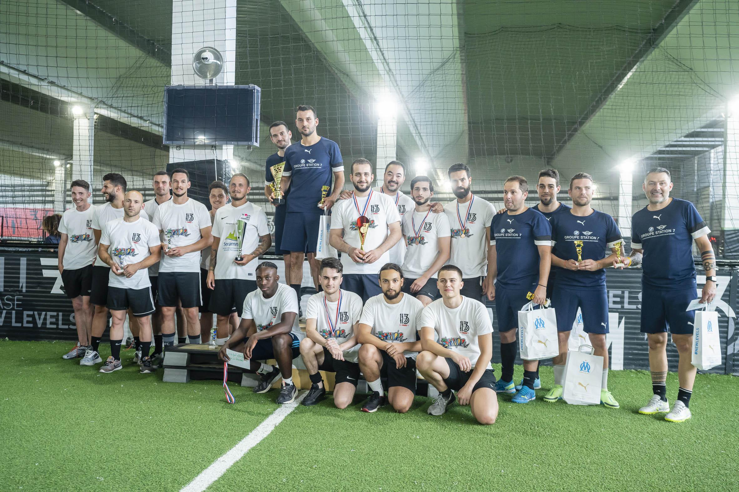 Podium du tournois futsal au 13 by puma organisé par Grandir