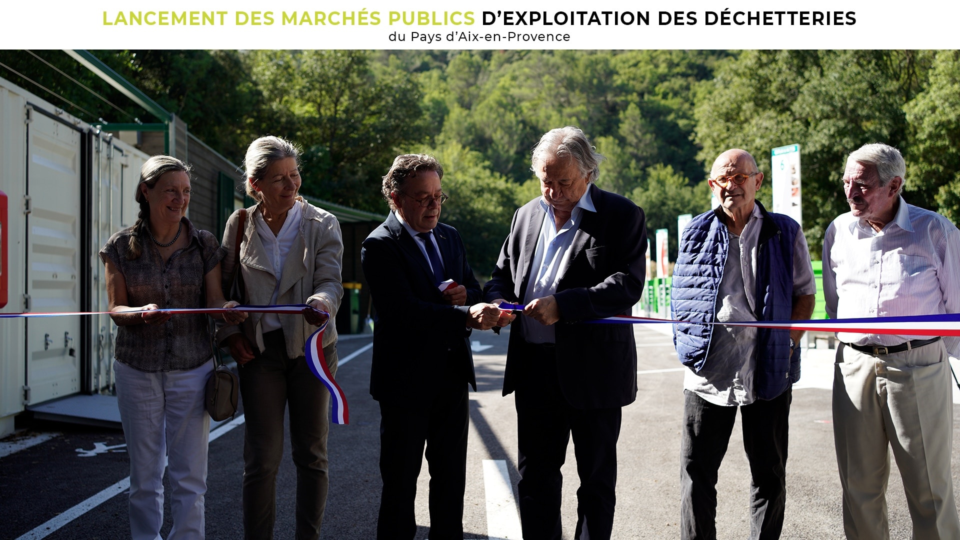 Lancement des marchés publics d'exploitation des déchetteries du Pays d'Aix-en-Provence